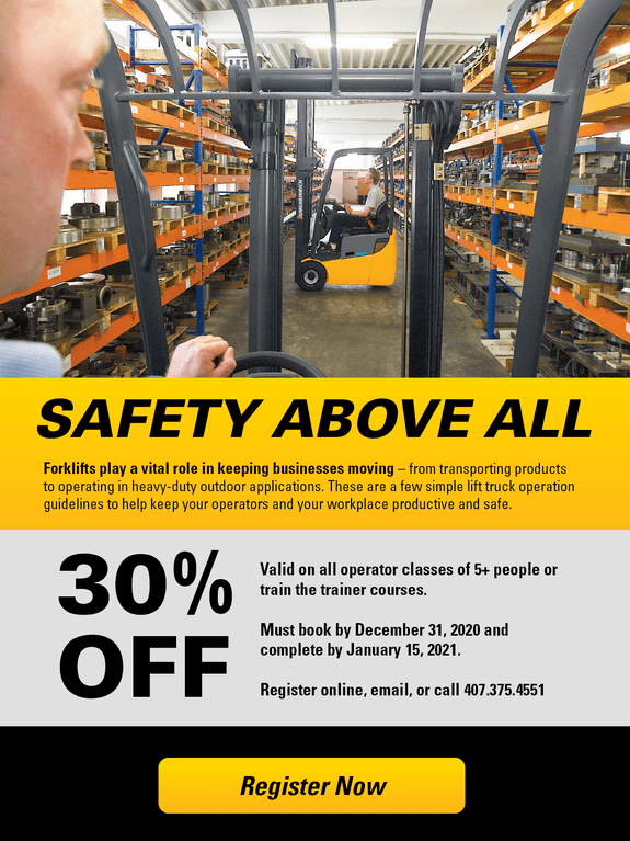 30% OFF Safety Training 2020